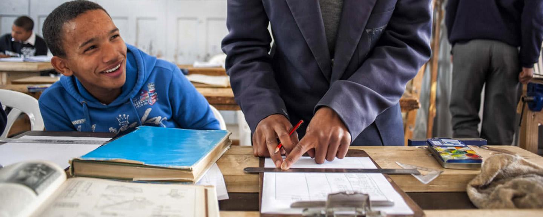 Mejorar la educación en Sudáfrica