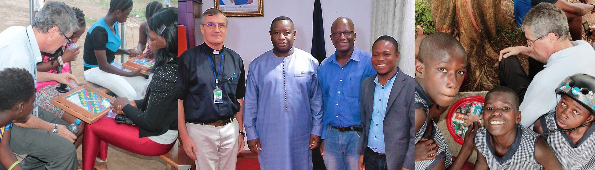 El nuevo presidente de Sierra Leona recibe al director de Don Bosco Fambul