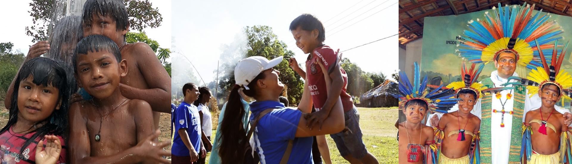 Proyecto solidario para llevar alimentos a los indígenas de Brasil