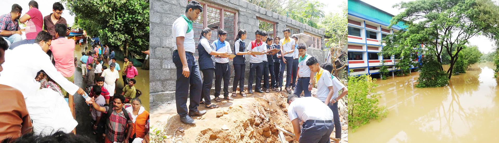 Reconstrucción ladrillo a ladrillo tras las inundaciones en India
