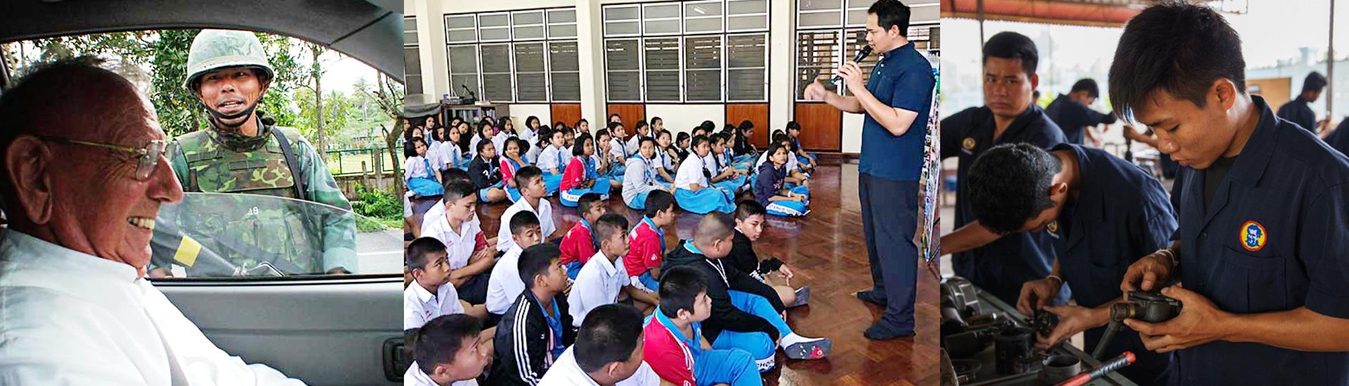 Salesianos en medio del peligro en Tailandia