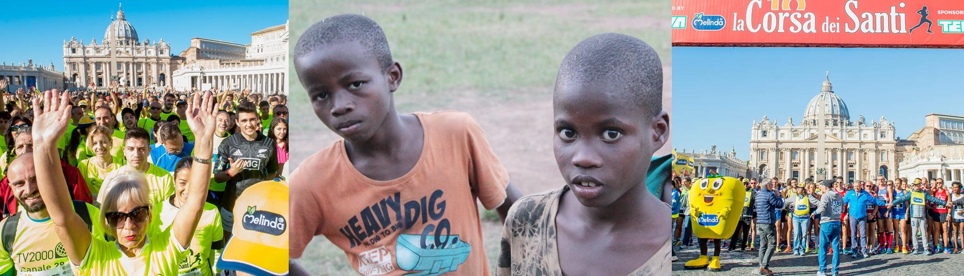 Carrera de los Santos en Roma para luchar contra el tráfico infantil