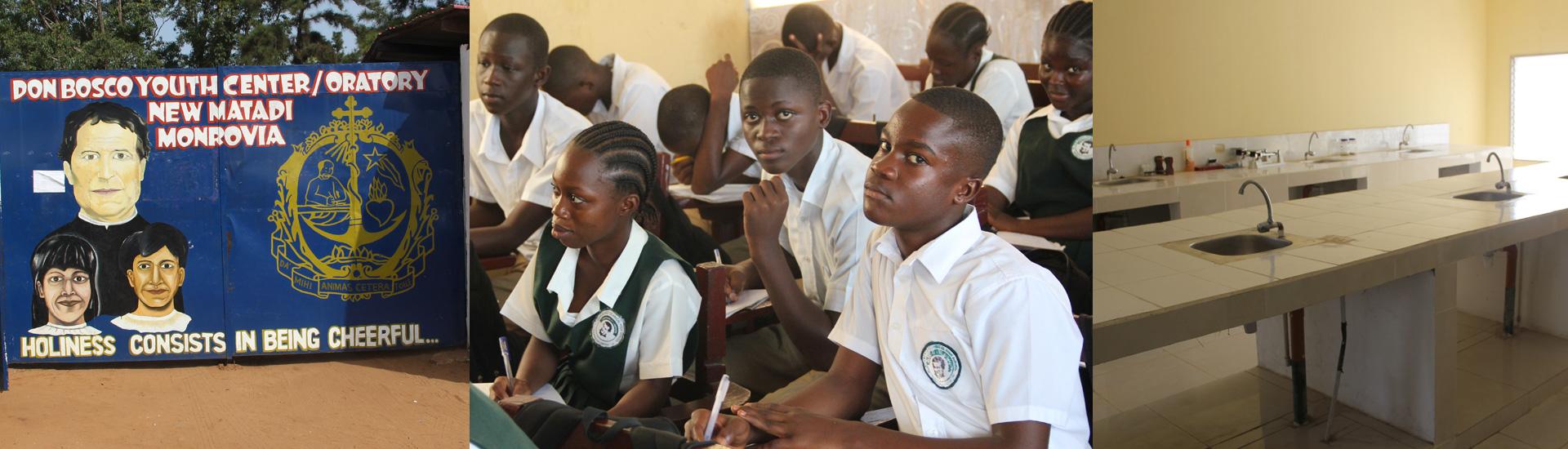 Nuevo laboratorio de ciencias en la escuela salesiana de Monrovia