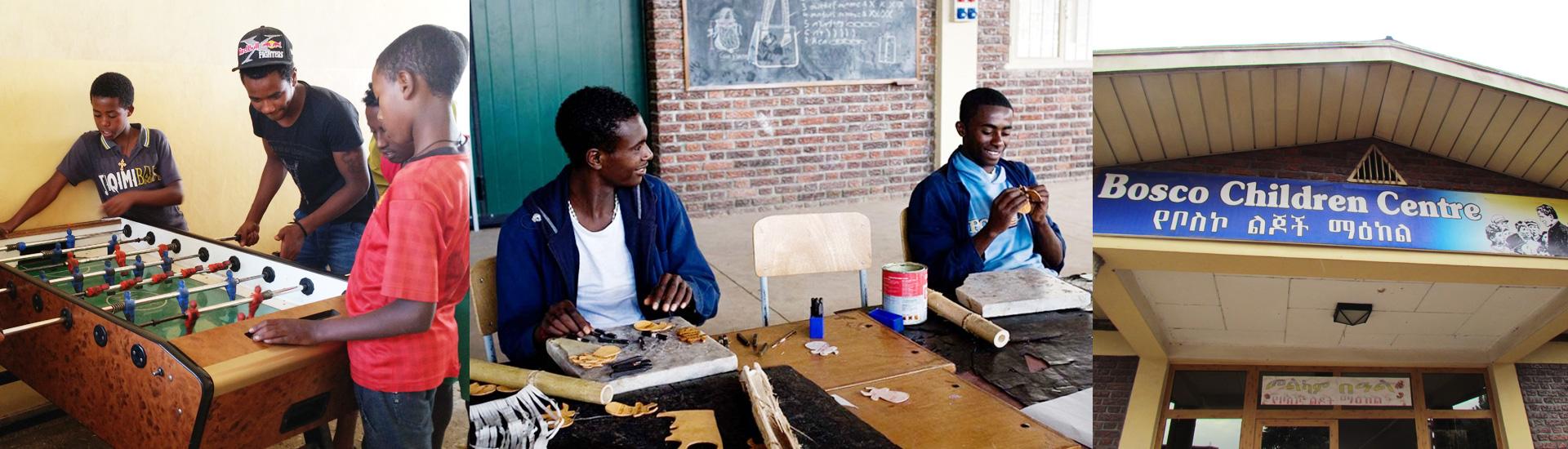 Educación de los niños de la calle en Etiopía