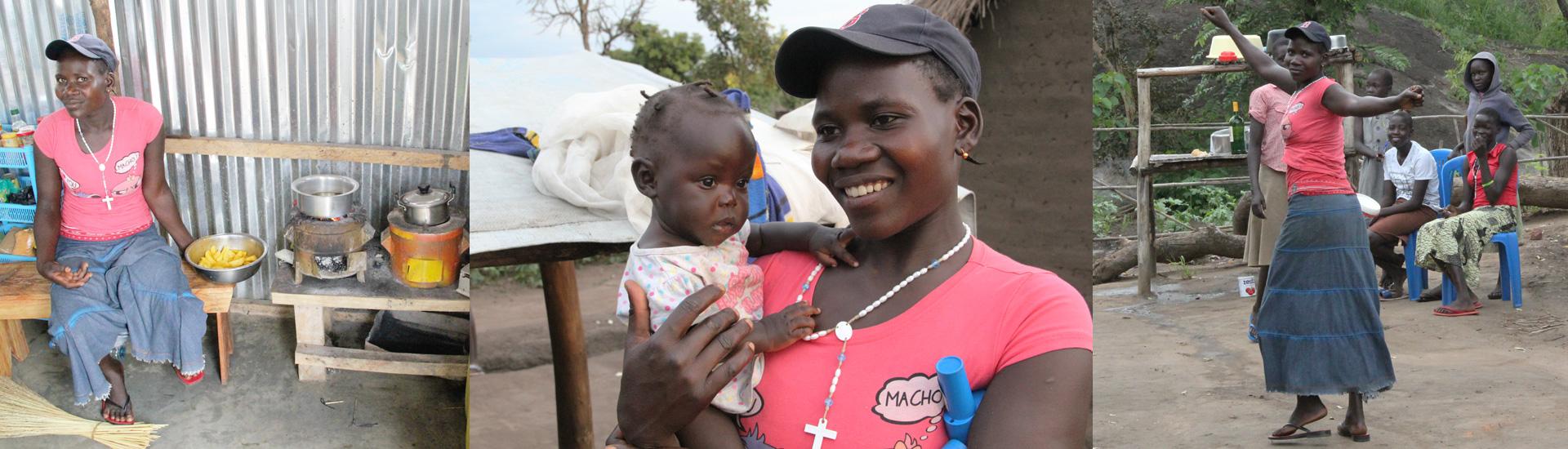 Josephine, joven madre refugiada en Palabek (Uganda)