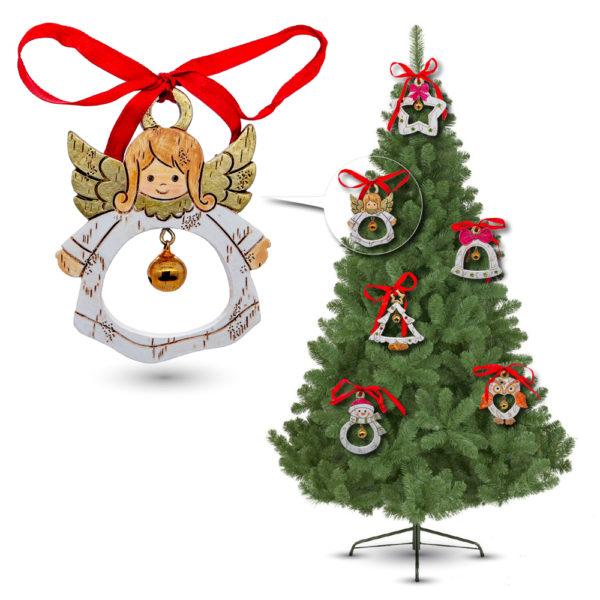 Set de 6 adornos de Navidad