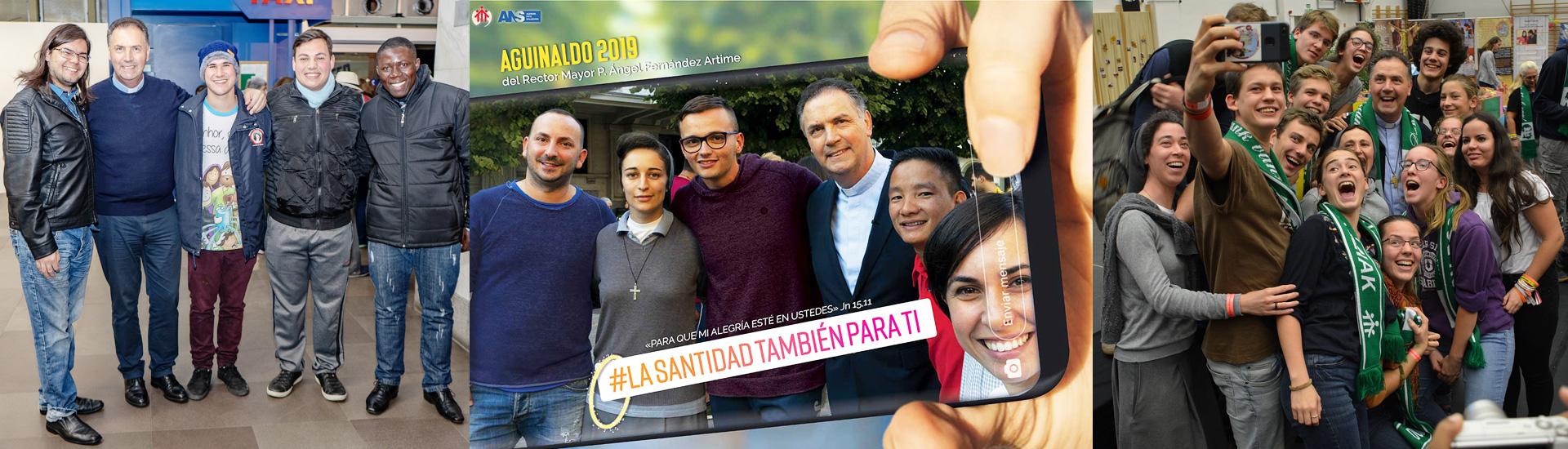 El cartel del Aguinaldo 2019 del Rector Mayor invita a la santidad