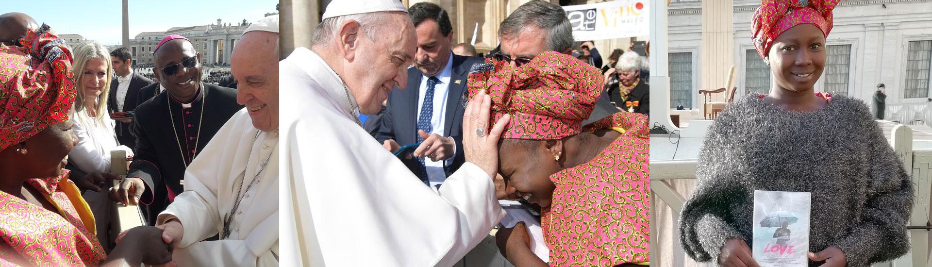 Augusta y el documental 'Love' ante el Papa Francisco