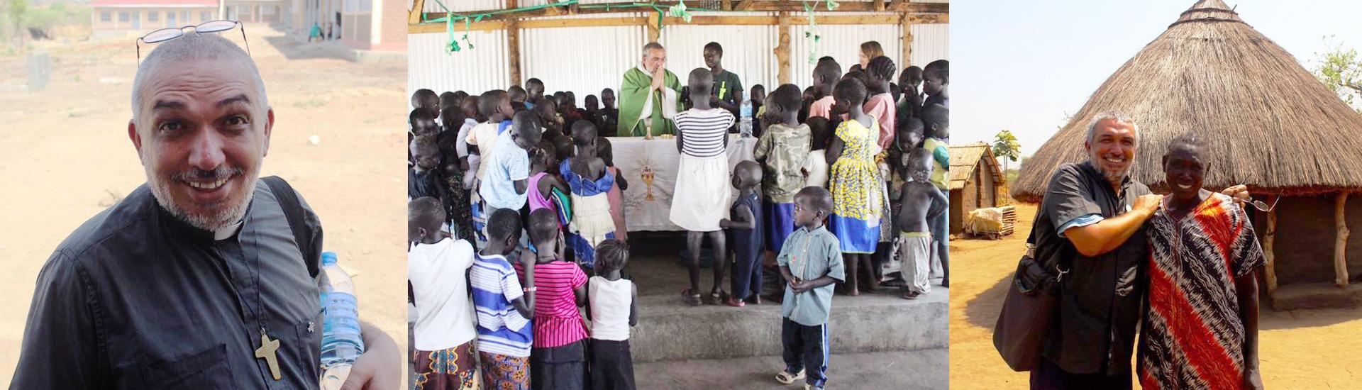 El padre Uba pudo regresar a Palabek y es feliz entre los refugiados