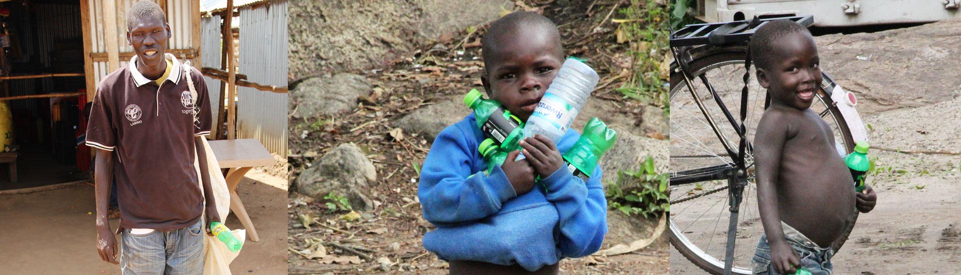 Refugiados en Palabek: Oline, el reciclador más generoso