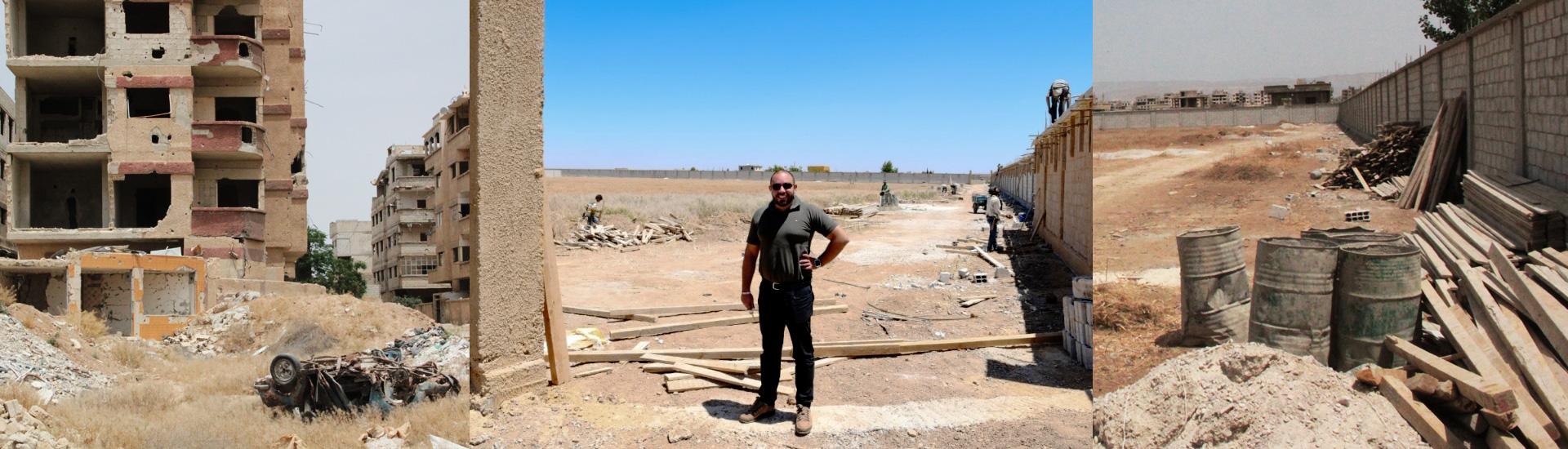De campo de batalla a nuevo centro juvenil en Damasco