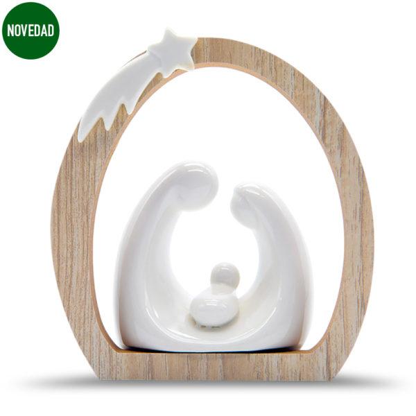 Nacimiento en porcelana y madera