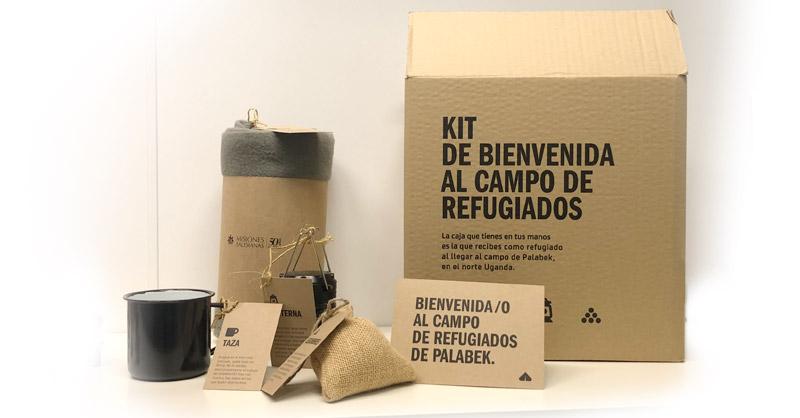Kit de bienvenida al campo de refugiados