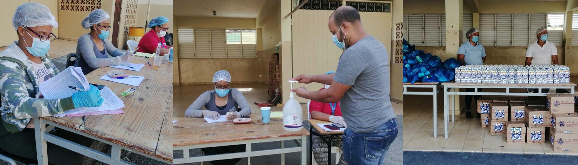 Reparto de comida a los menores más vulnerables para vencer al coronavirus en República Dominicana