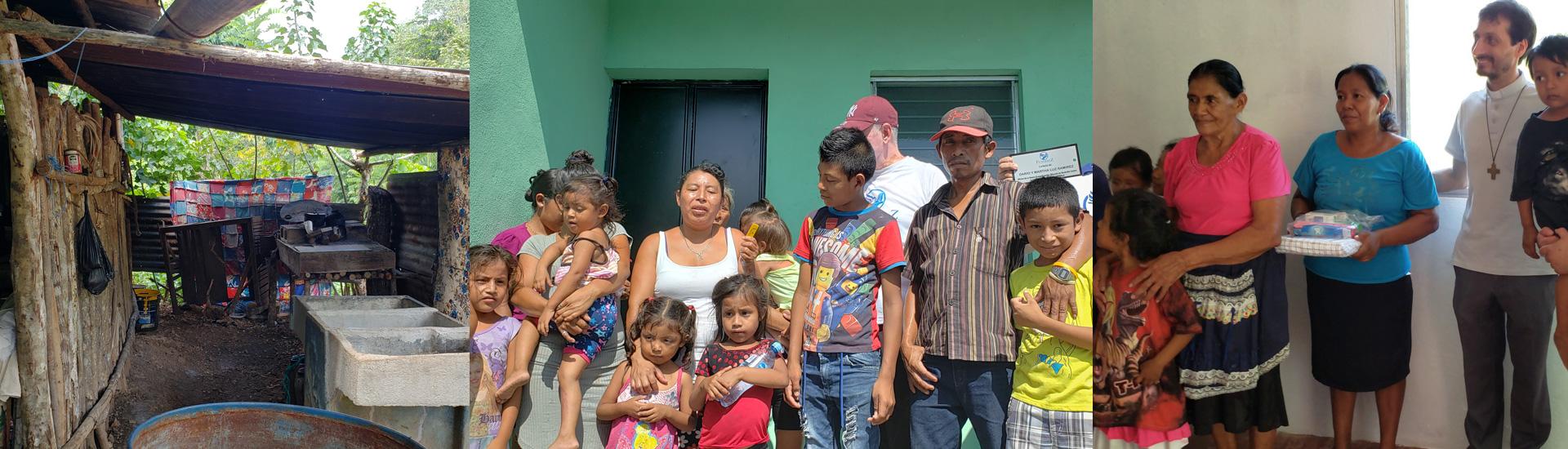 Viviendas dignas para los más pobres en medio del coronavirus en San Benito Petén (Guatemala)