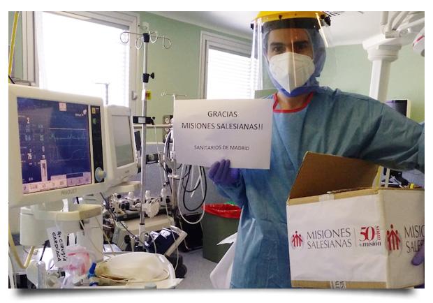 Entregamos más de 37.000 mascarillas FFP2 a los sanitarios de Madrid para luchar contra el coronavirus