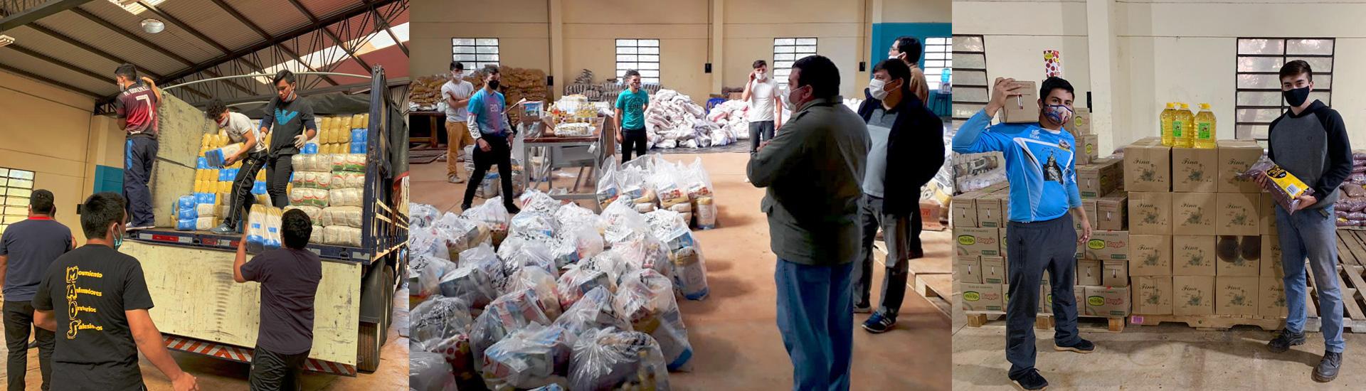 Alimentos para más de 60.000 personas en el Comité de Emergencia que lideramos en Minga Guazú (Paraguay)