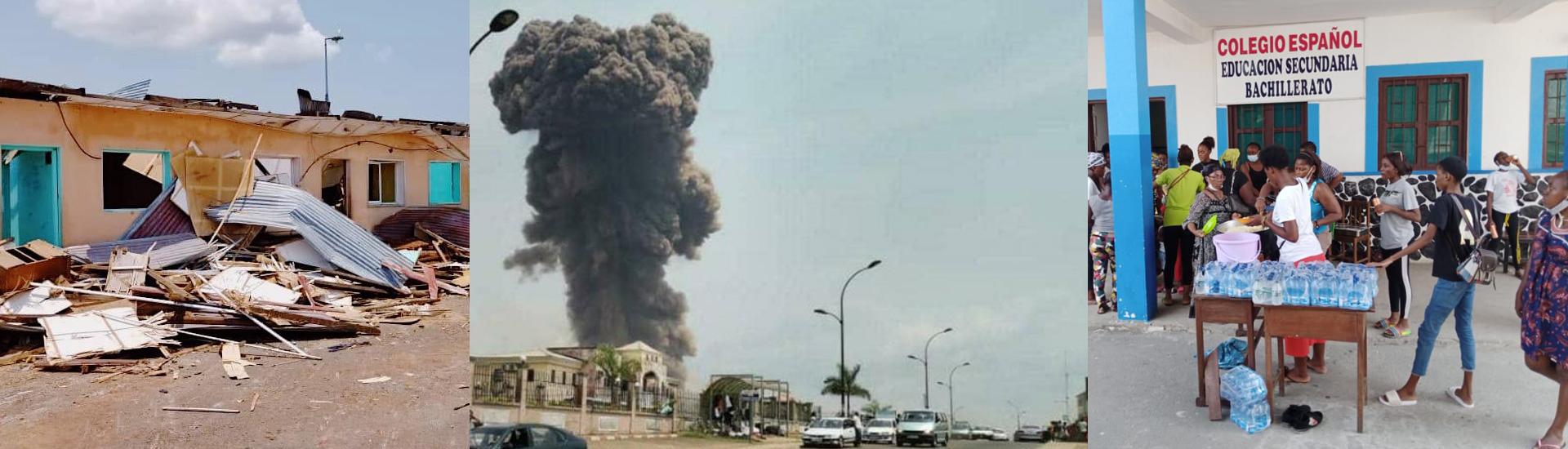 Ayuda de emergencia para más de 500 personas tras las explosiones de un polvorín militar en Bata (Guinea Ecuatorial)