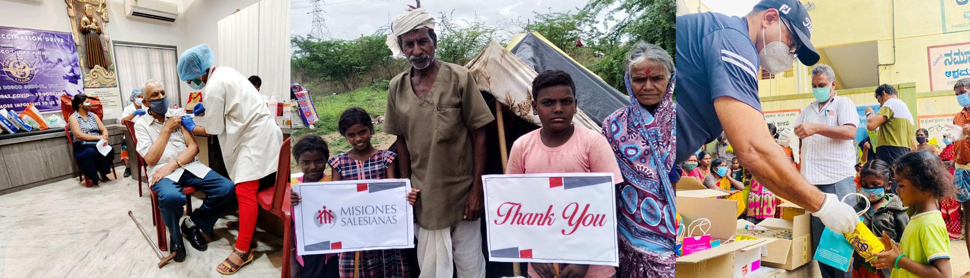 La ayuda en medio del Covid llega a millones de personas necesitadas en India gracias a la solidaridad salesiana