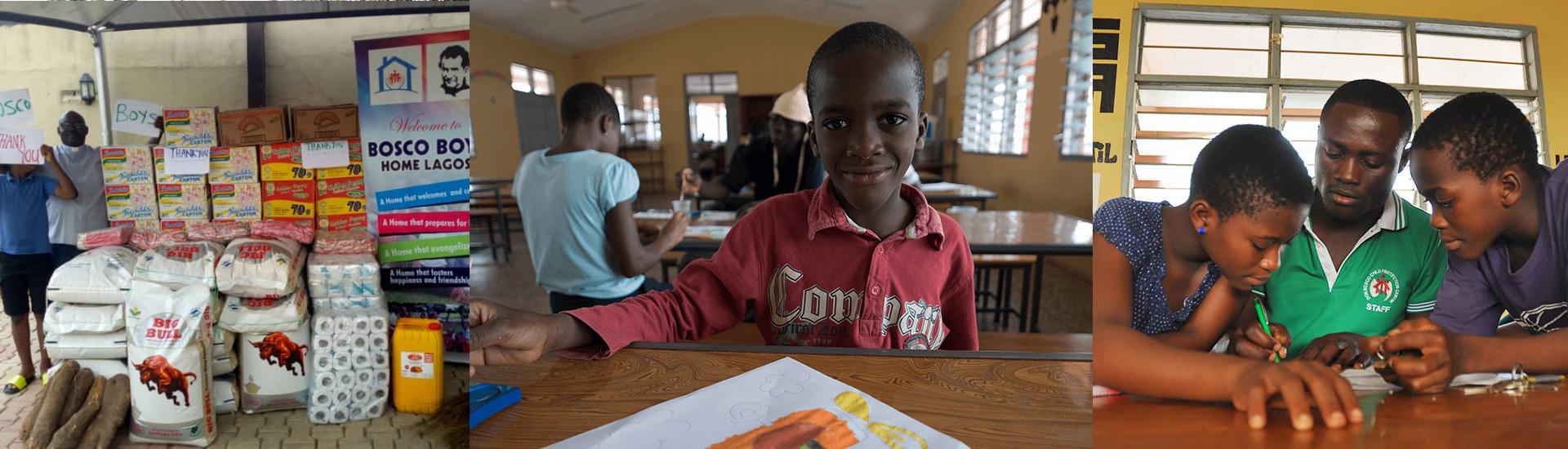 La asistencia a los niños en situación de calle en Nigeria no se detiene en tiempos de pandemia