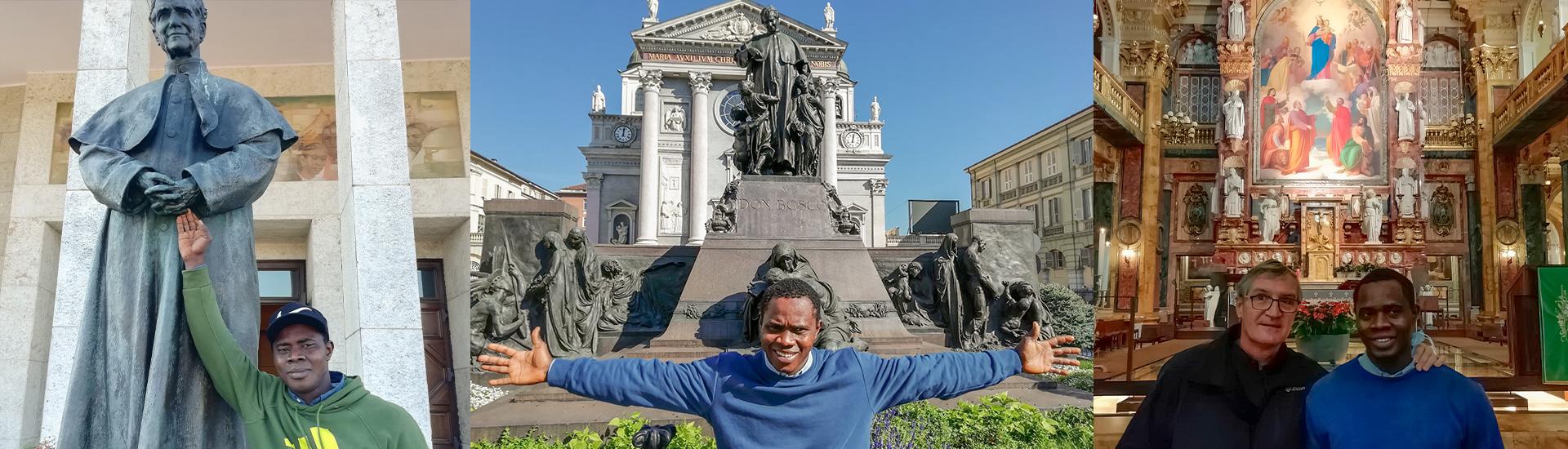 """""""Es uno de los días más felices de mi vida"""". Chennor cumple su sueño de conocer los lugares de Don Bosco en Turín"""